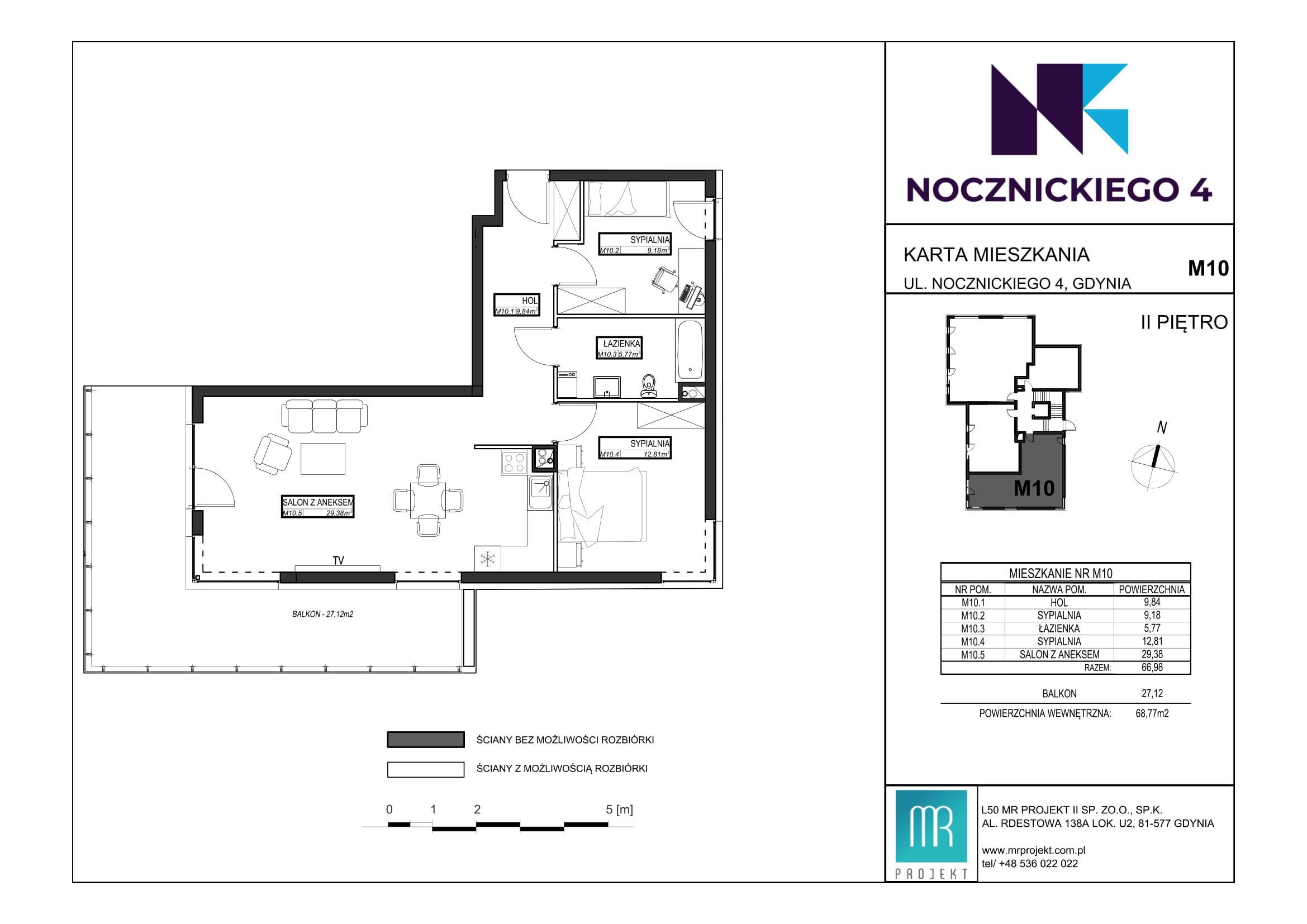 Rzut mieszkania M10