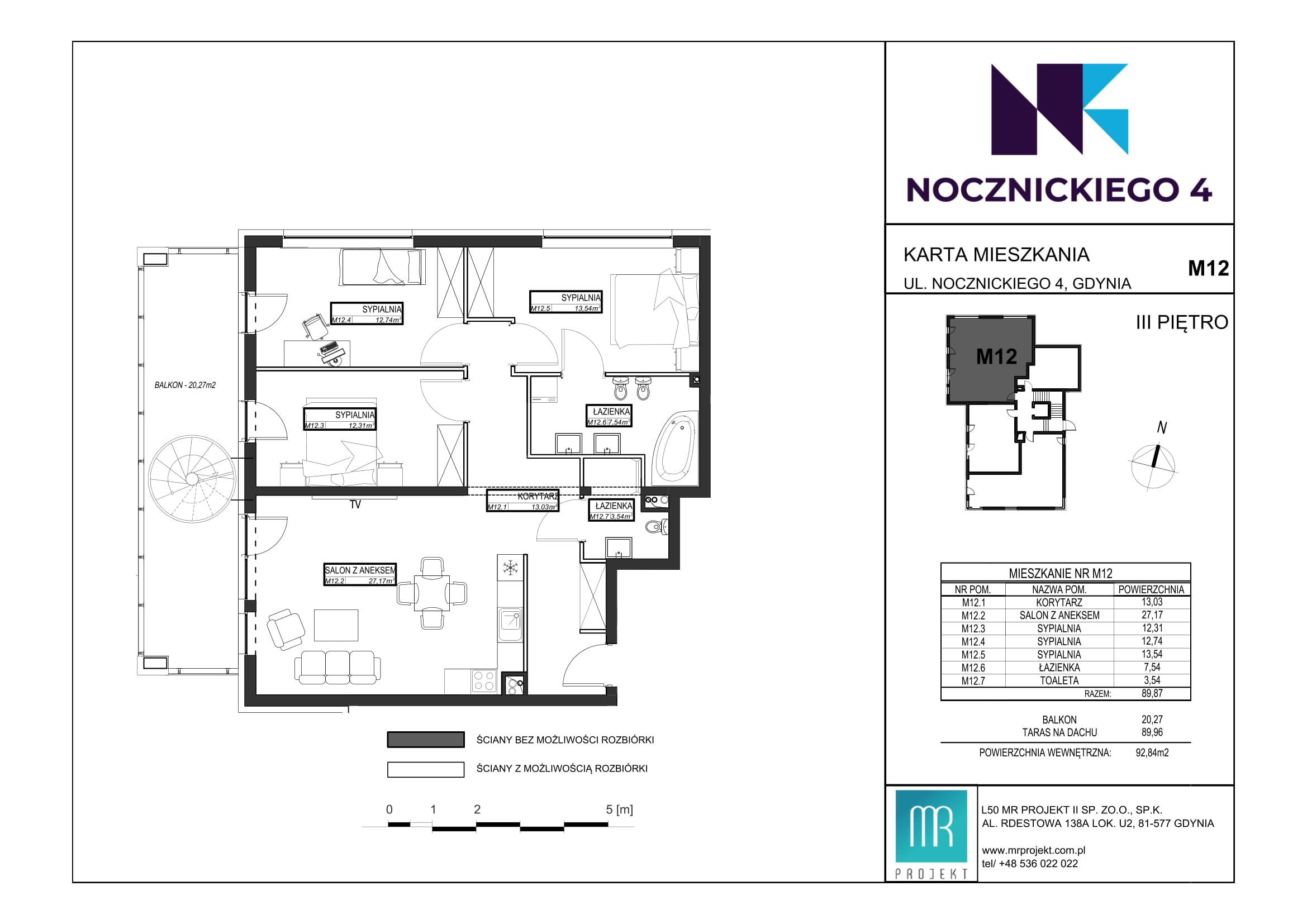 Rzut mieszkania M12