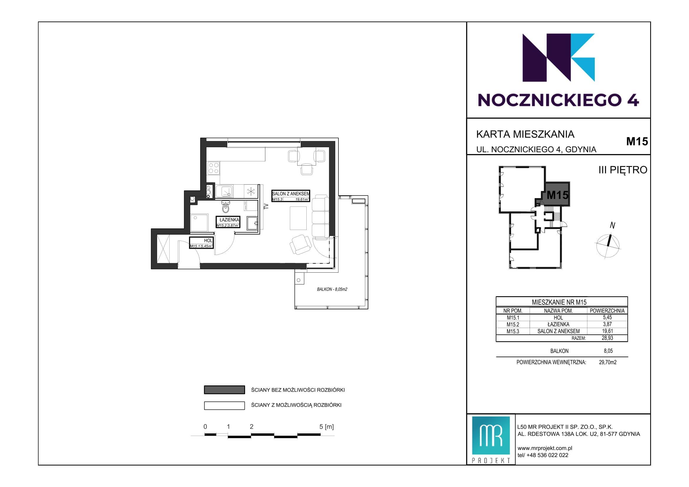 Rzut mieszkania M15