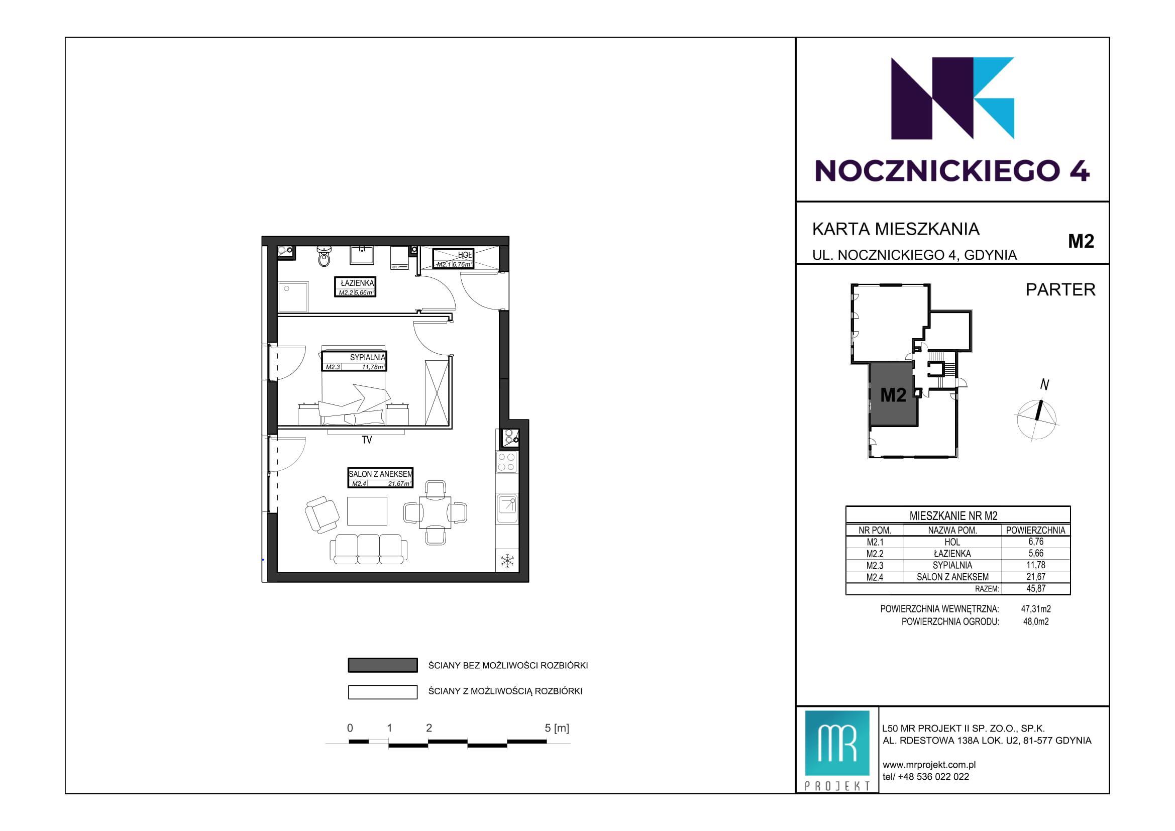 Rzut mieszkania M2
