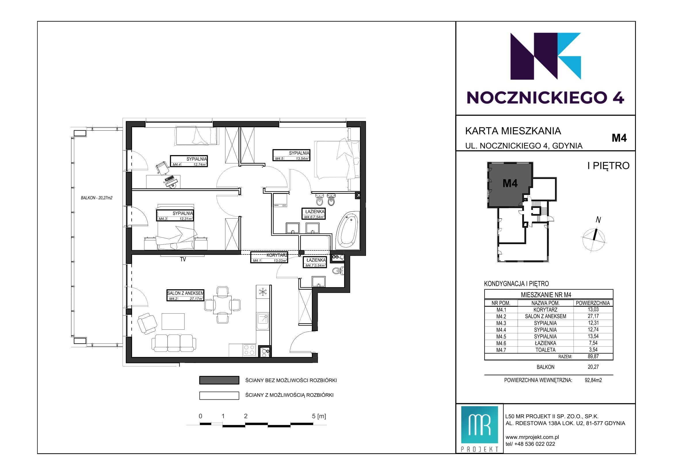 Rzut mieszkania M4