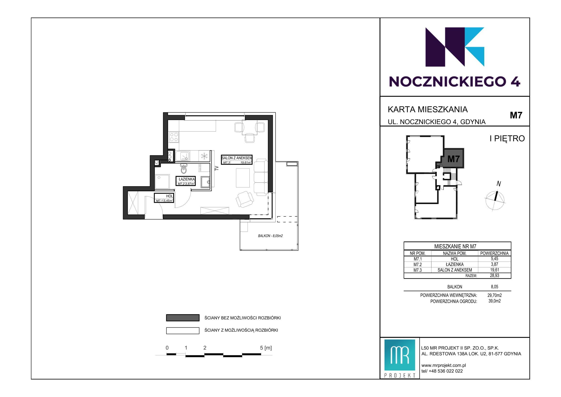Rzut mieszkania M7