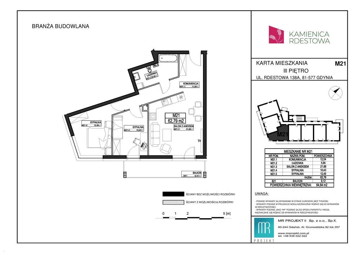 Rzut mieszkania M21