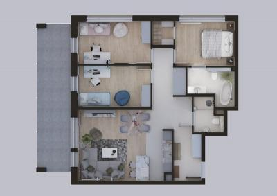 plan mieszkania Nocznickiego 4