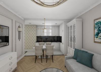 wizualizacja mieszkanie dwupokojowe