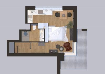 KAWALERKA plan mieszkania