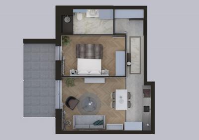 RZUT mieszkanie dwupokojowe